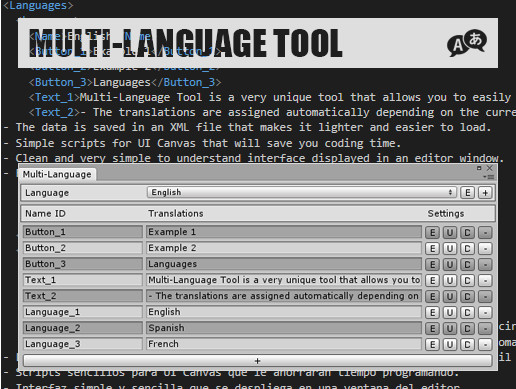 Multi-Language Tool - Asset Store