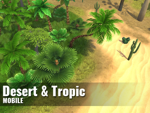 Desert and tropic vegetation — Hand-painted