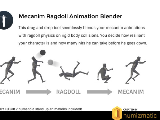 Mecanim Ragdoll Animation Blender