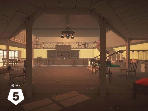Low Poly Western Saloon