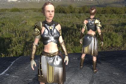 Roman greek woman warrior