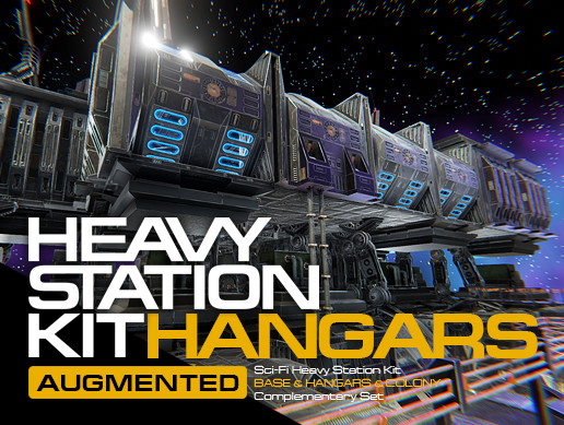 Sci-Fi Heavy Station Kit hangars AUGMENTED