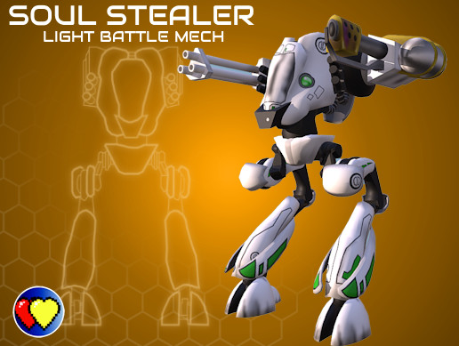 SOUL STEALER Light Battle Mech
