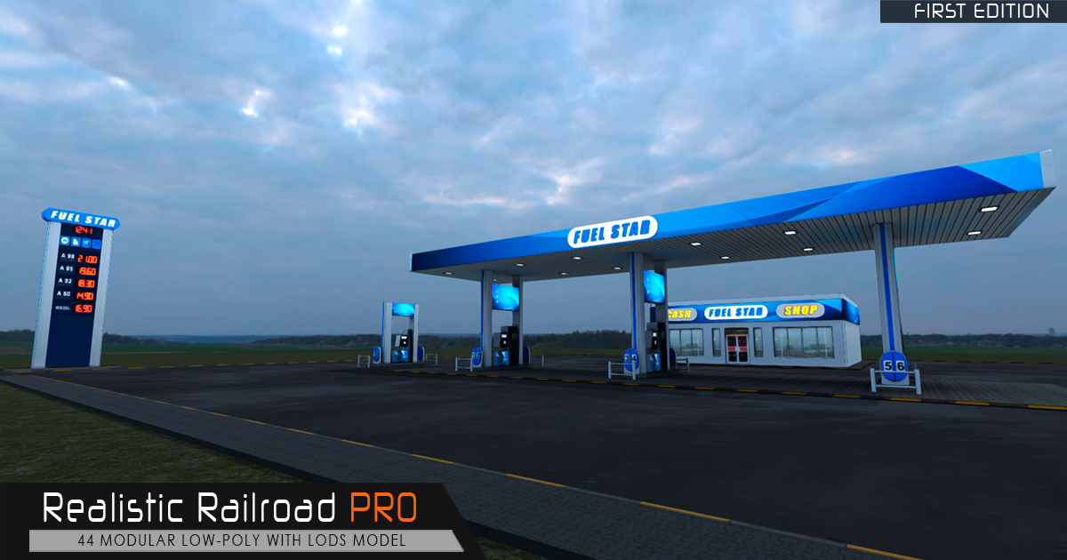 Realistic Fuel Station Pro