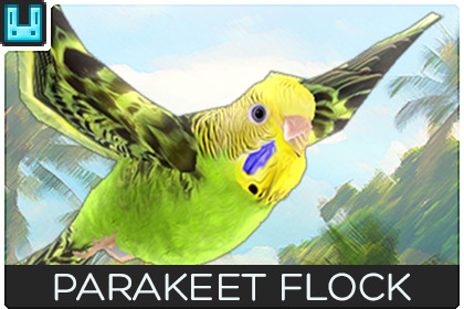 Bird Flock Parakeet