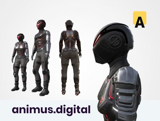 Sci-fi suit AC-2 modular pack