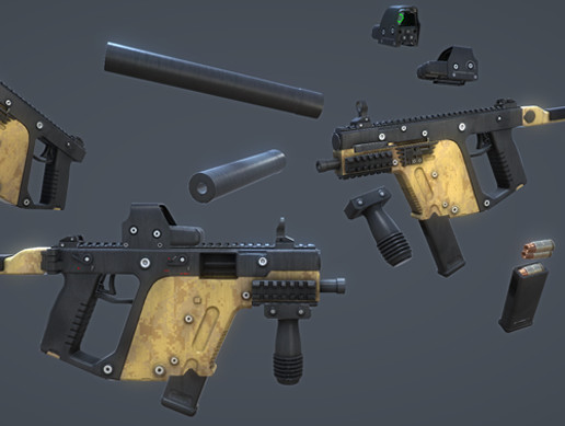 Modular Submachine Gun: Kriss Vector - Asset Store