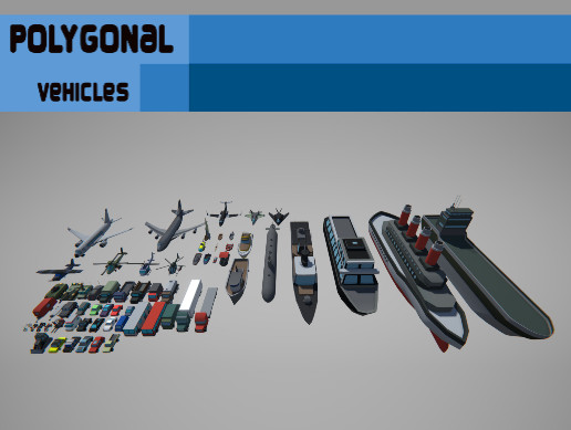 Polygonal Vehicles Asset Package