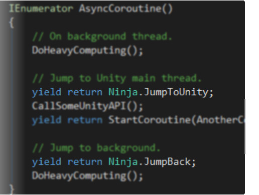 Thread Ninja - Multithread Coroutine