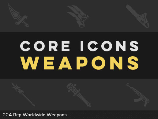 CORE ICONS - WEAPONS