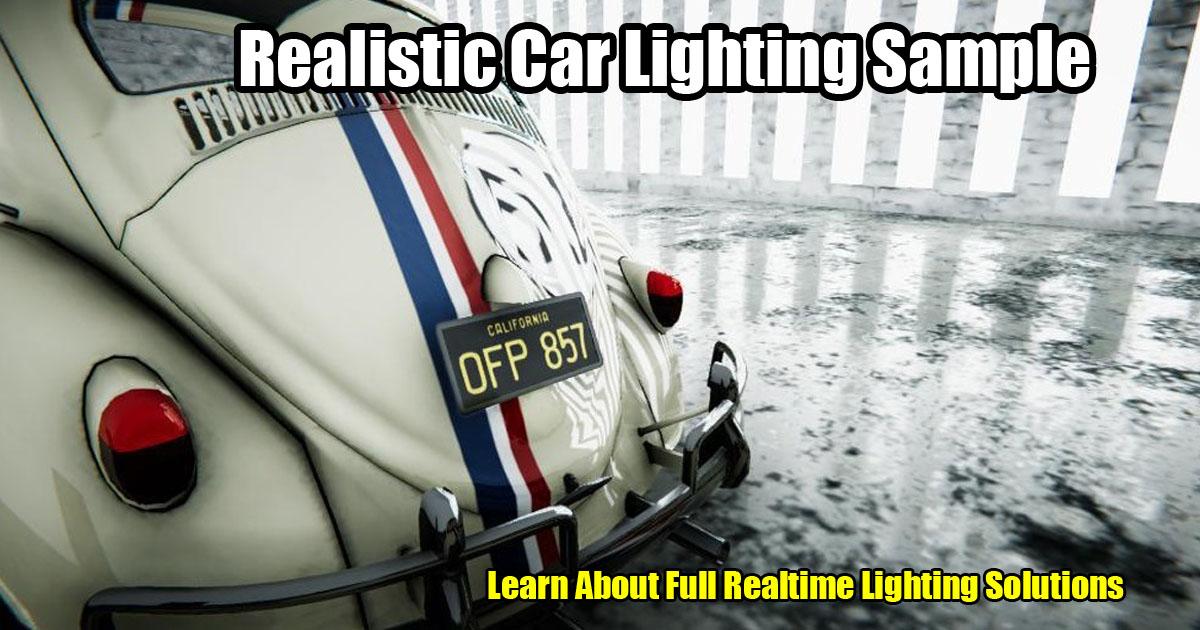 Realistic Car Lighting Sample 2020