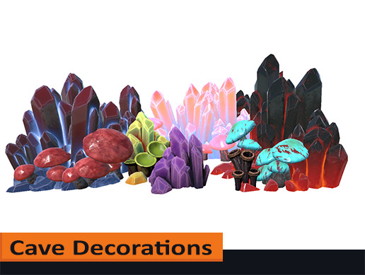 Stylized Cave Decorations