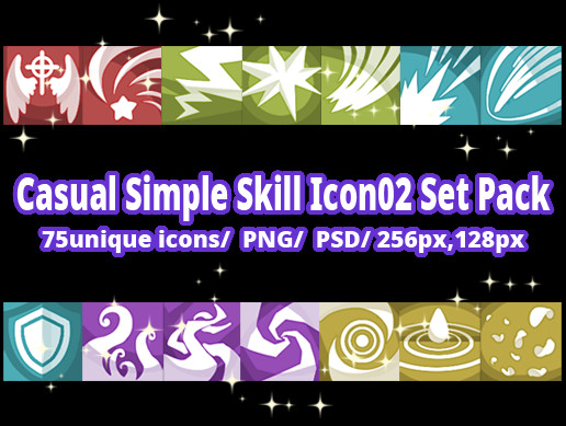 Casual Simple Skill Icon02 Set Pack