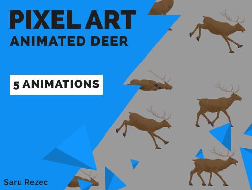 Pixel Art: Animated Deer