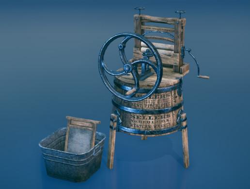 Western washing machine and washboard