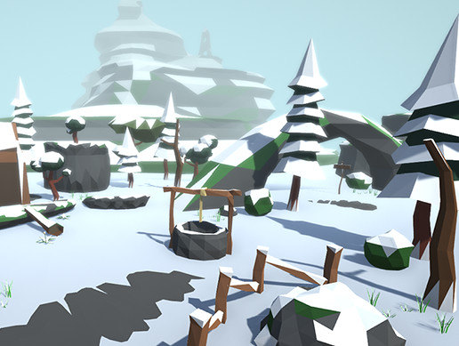 Lowpoly Forest Pack Winter