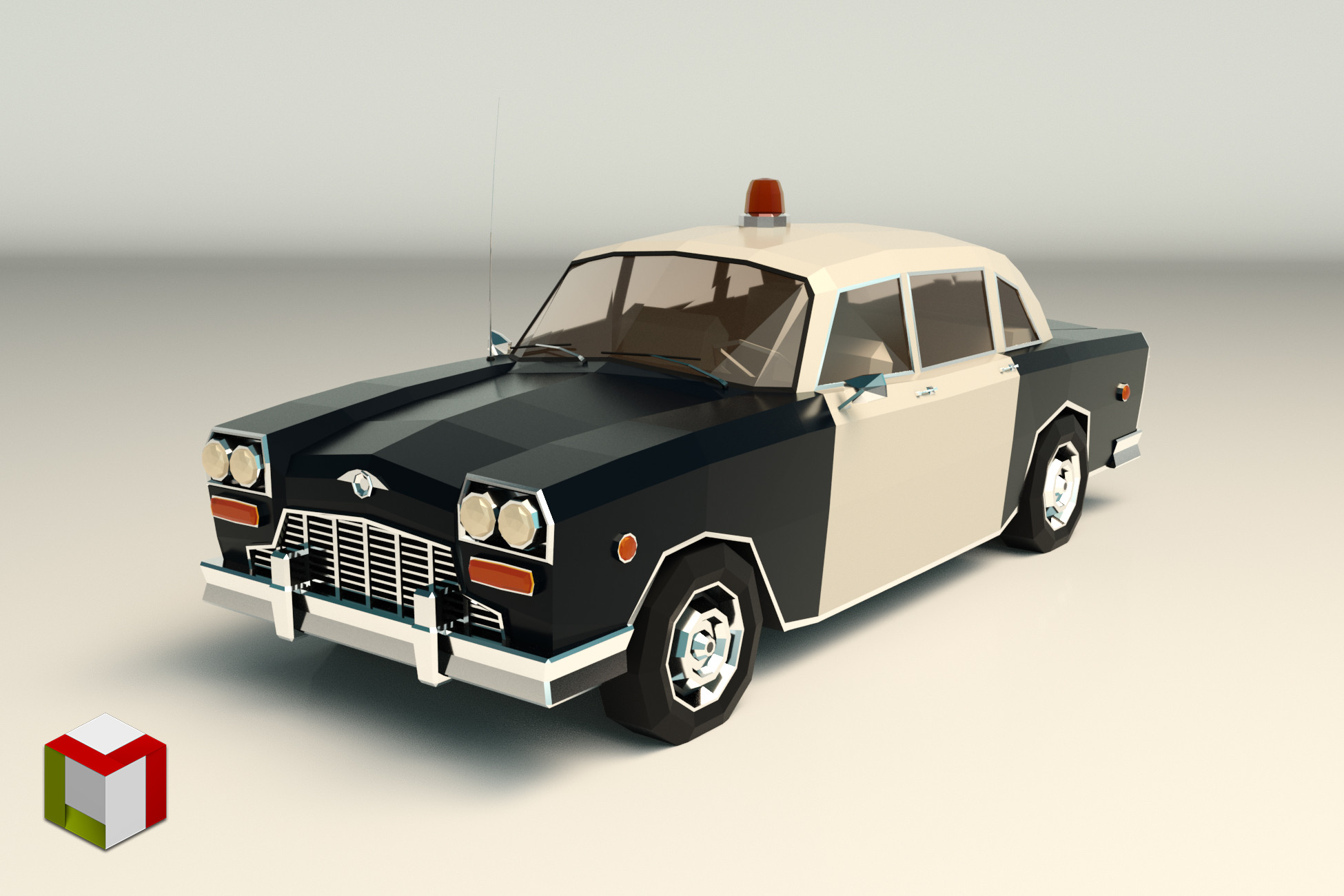 Low Poly Police Car 03