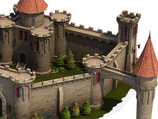 Top-Down Medieval Castle