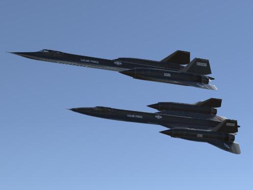 Jet Fighter Aircraft YF-12 Blackbird