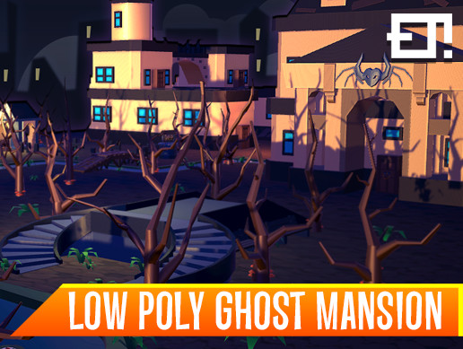 Low Poly Ghost Mansion