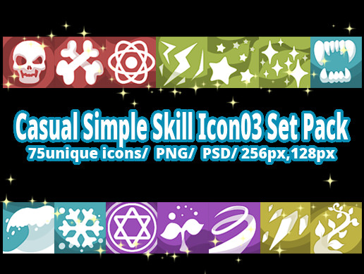 Casual Simple Skill Icon03 Set Pack