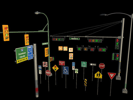 Animating Traffic Lights / Street Lamps / Signs