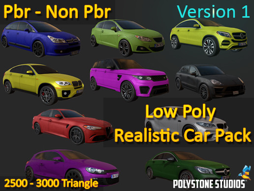 Low Poly Realistic Car Pack