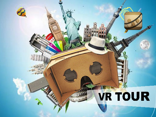 VR Cardboard realistic city tour