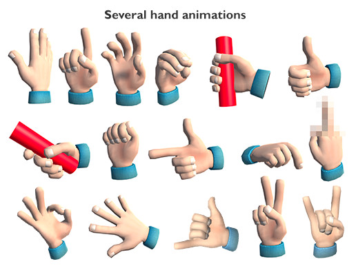 VR Cartoon Hand