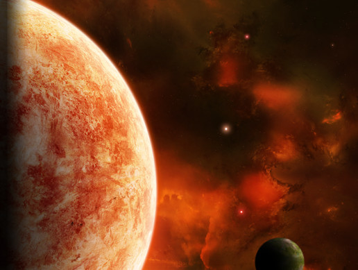 Parallax Space Background (Red)