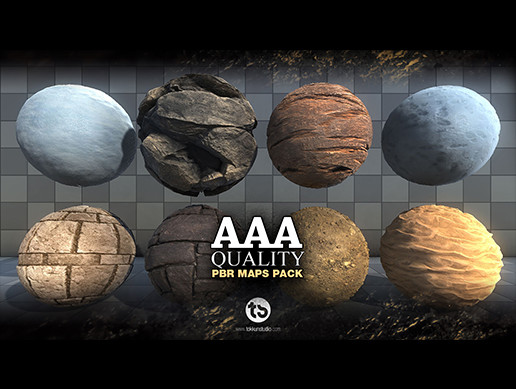 15* AAA Quality PBR maps PACK 1