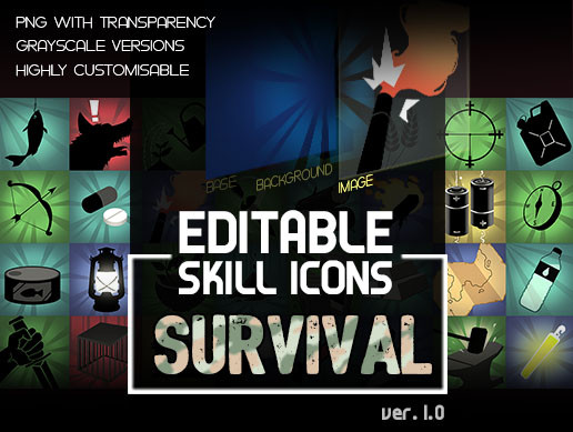 Editable SURVIVAL Icons