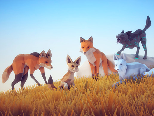 Poly Art: Fox