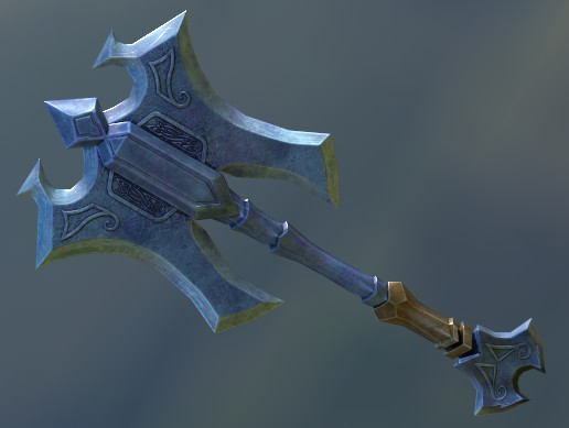 Medieval low poly axe
