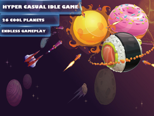 Idle Space Destroyer - Planet Bomber Hyper Casual game