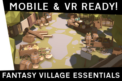 Fantasy Village Essentials - Low Poly, Mobile & VR Ready