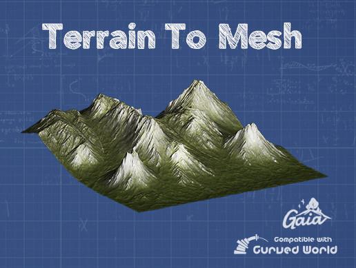 نسخه جدید پکیج یونیتی Terrain To Mesh