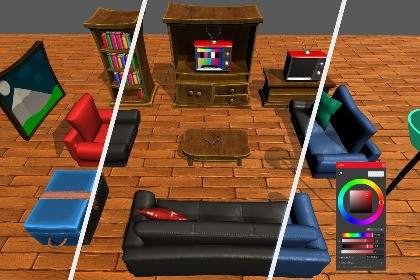Stylized Living Room Furniture