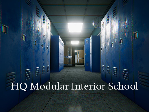 HQ Modular Interior School (HDRP)