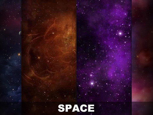 Space 2D Scrolling Shooter Background