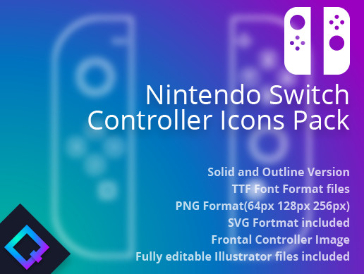 Nintendo Switch Controller Icons Pack
