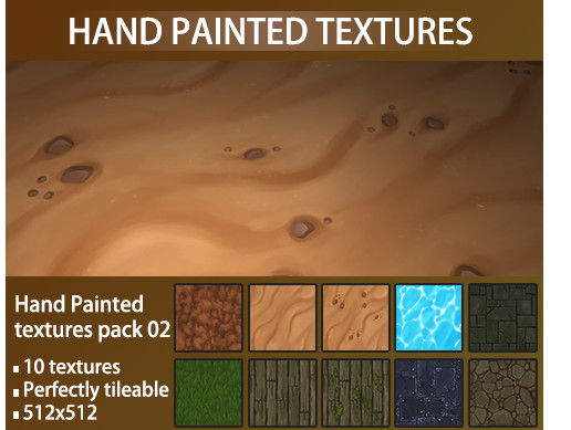 Hand Painted Texture Pack 02