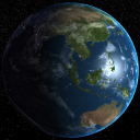 Earth Planet With Atmospheric Scattering