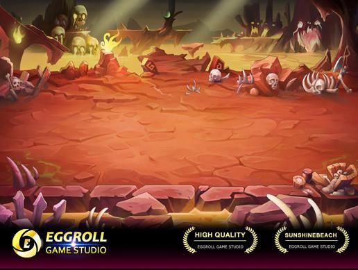2D Horizontal battle Enviroment_08(Hell)