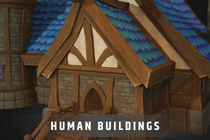 Stylized Human Buildings