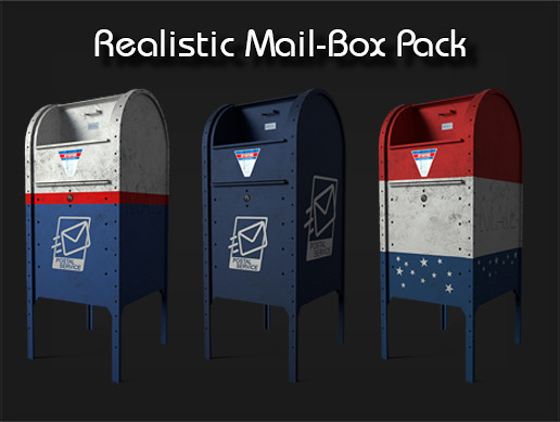 Realistic MailBox Pack - PBR Detailed