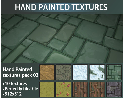 Hand Painted Texture Pack 03