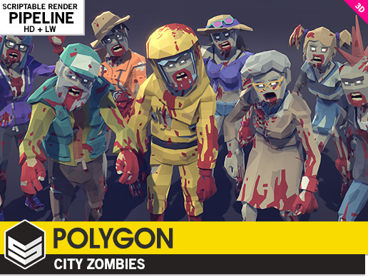 Polygon City Zombies Asset Store