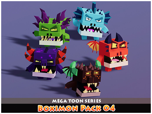 Boximon Pack 04 Mega Toon Series