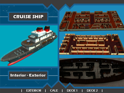 Cruise SHIP - Interior & Exterior - Complete Pack